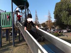 大師公園のコロコロ滑り台