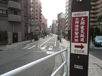 大師電気鉄道の六郷橋駅跡