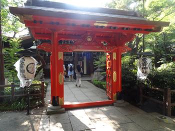 丹塗りの門-神門-