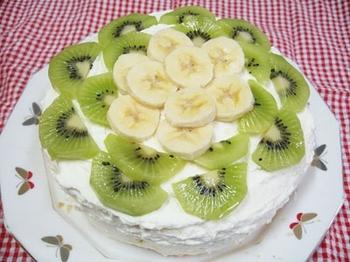 自家製バナナケーキ