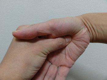 手のひらの親指の付け根にあるふっくらとしたところ